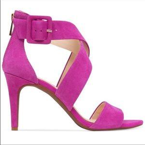 Jessica Simpson Hot Pink Suede Heels